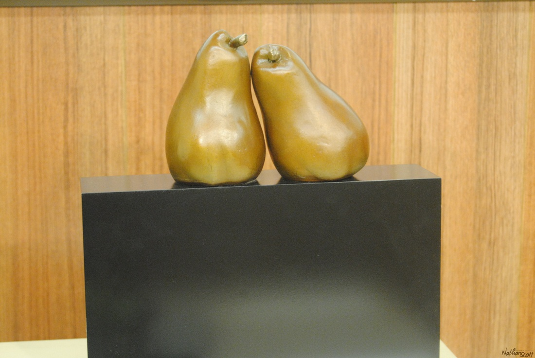 pears bronze piece nathan scott fruit