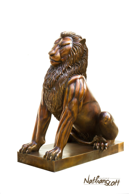 pride of lions sculpture statue landscape for sale cost home luxury nathan scott